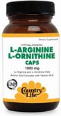 L-ARGININE, L-ORNITHINE, 90 капс. Country Life